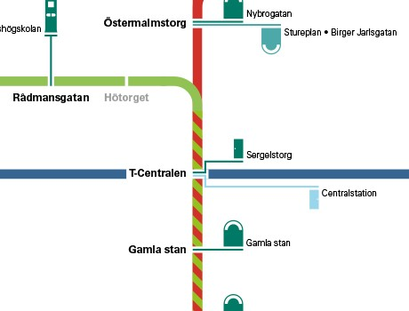 Toilet Maps for Stockholm Metro Travellers